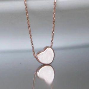 Rose Gold Heart Necklace/bracelet/anklet, Handmade